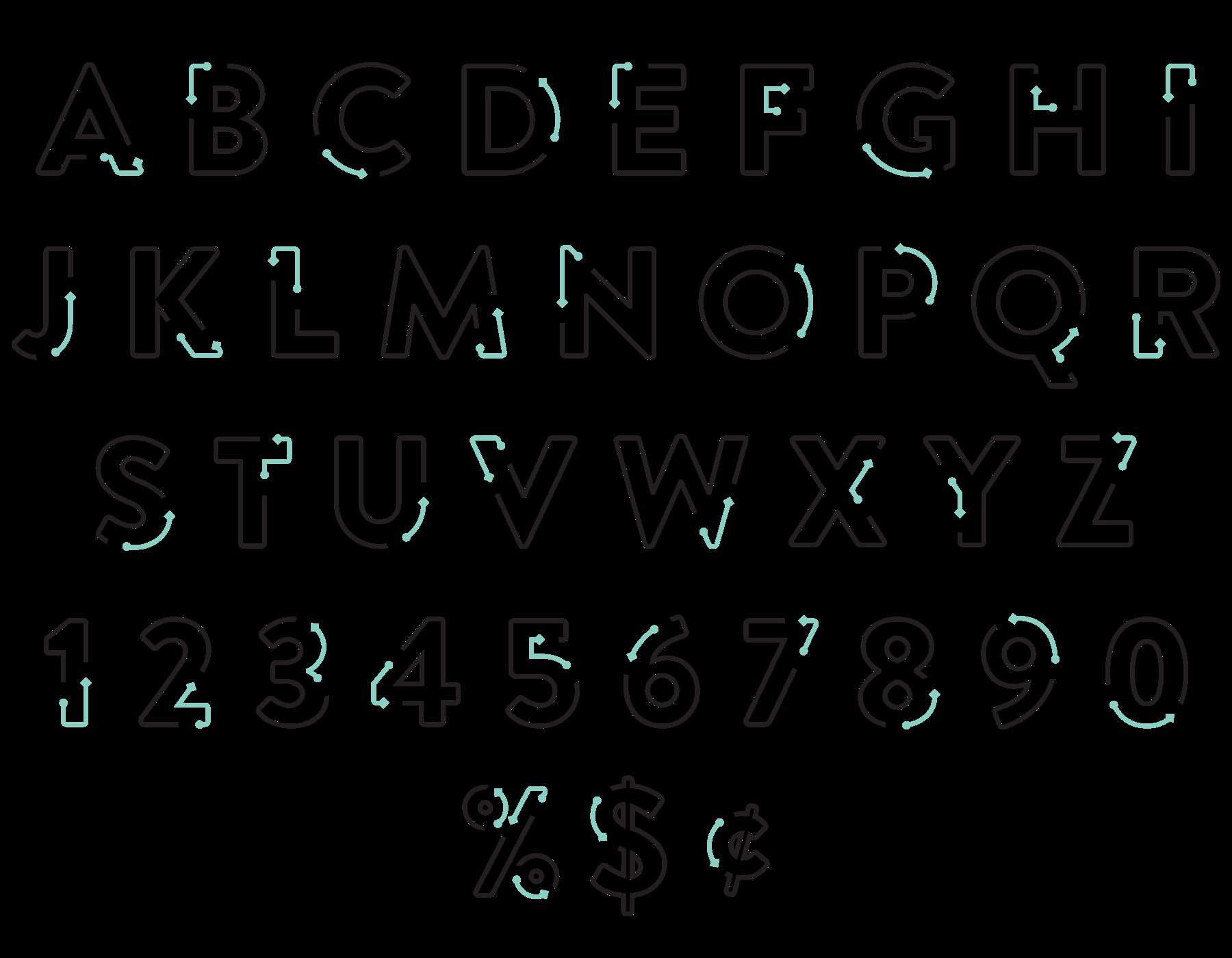 ThreePercent_Alphabet